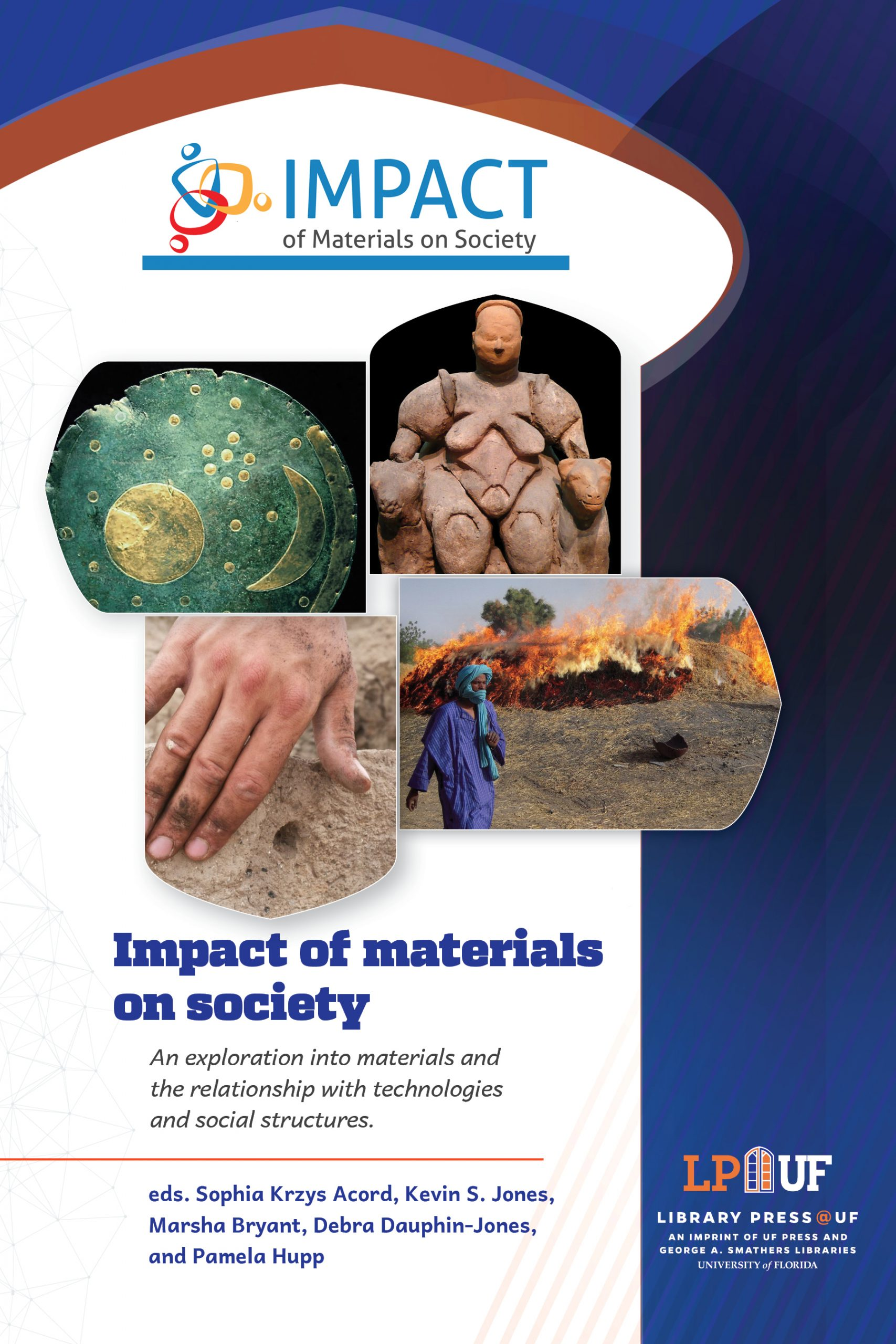 Textbook cover with images from the book